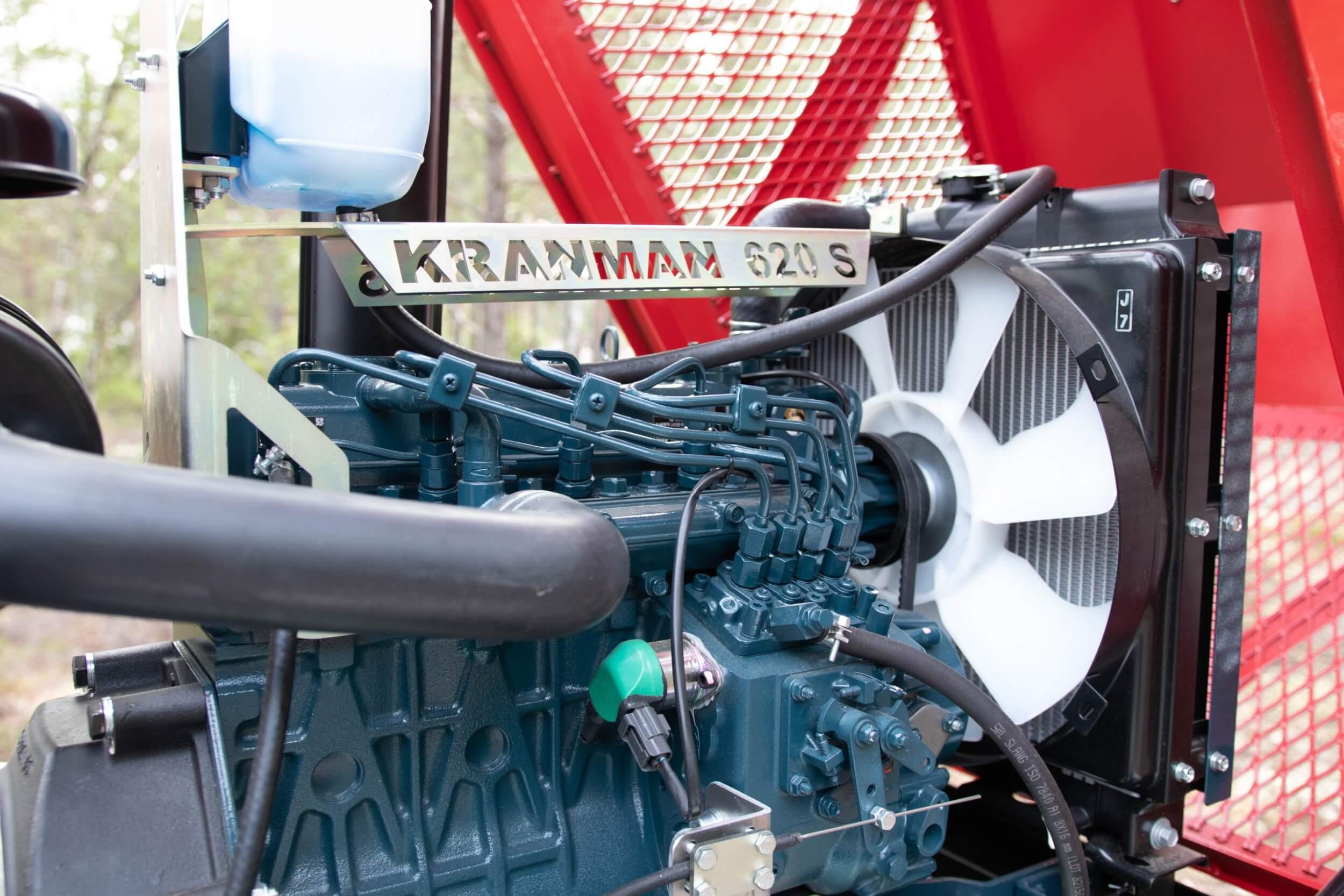 Kubota motor i skördare 620S